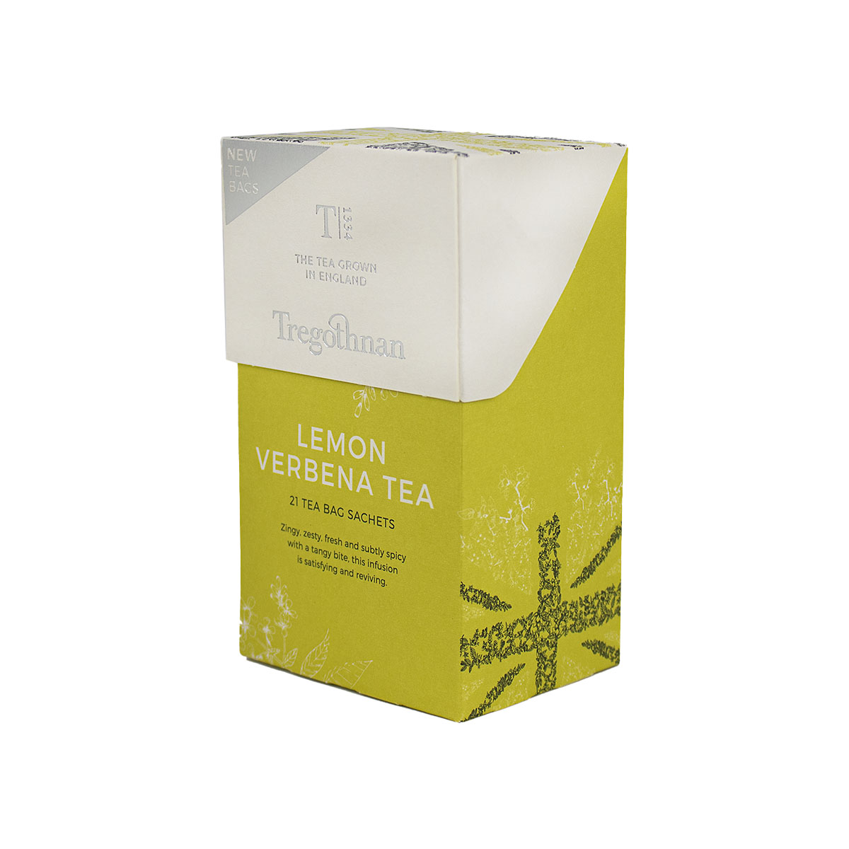Tregothnan Lemon Verbena Tea 21 Sachet Box Buy Online At Provenance Hub