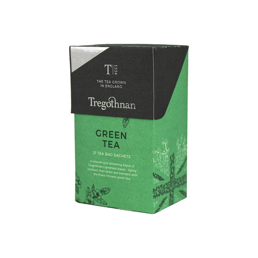 Tregothnan Green Tea 21 Sachet Box