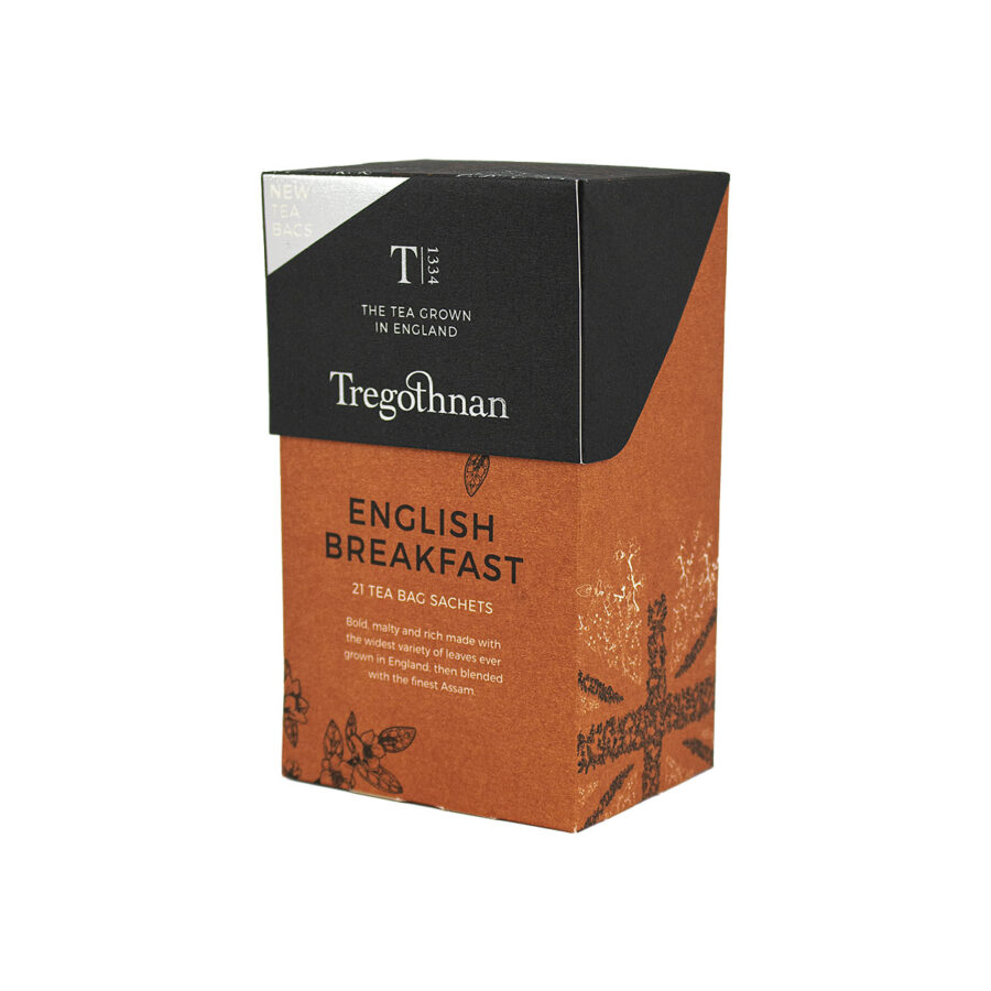 Tregothnan English Breakfast Tea 21 Sachet Box